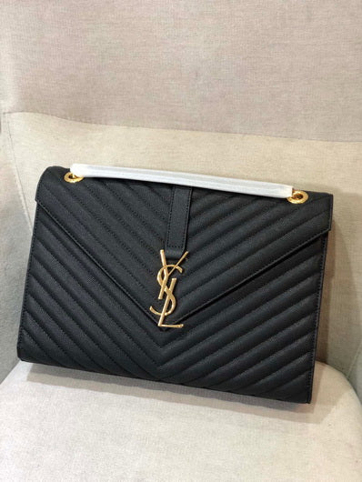 YS 342023 Classic Large Bag Yves Saint Laurent Shoulder bag black gold