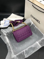 Chanel A67085 Chanel smal boy chanel handbag 94305 Purple gold