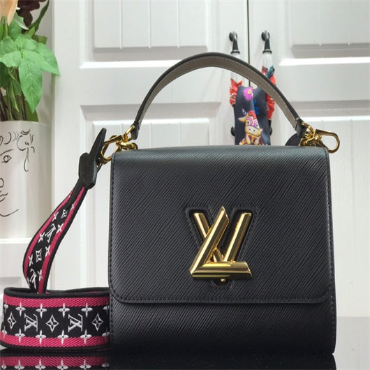 LV  M57090  M57092  Louis Vuitton Twist One Handle MM Single Bag Black