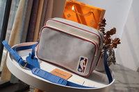 LV M85141 LOUIS VUITTON NBA joint series NIL MESSENGER Bag White