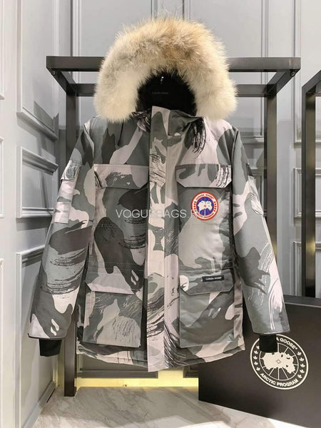 CanadaGoose  MEN'S Down Jackets PBI EXPEDITION Parka Print 88027 Gray