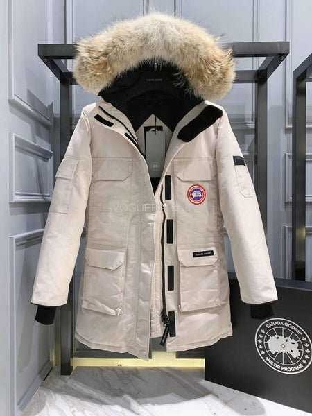 CanadaGoose Women  MEN'S Down Jackets PBI EXPEDITION Parka Print 88028 White