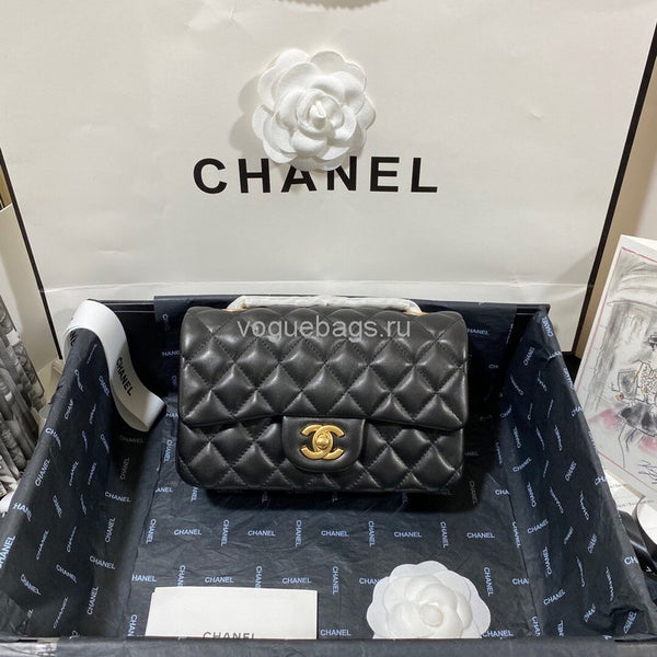 Chanel 1116 Classic Small  Flap Bag  A69900 Lambskin in Black