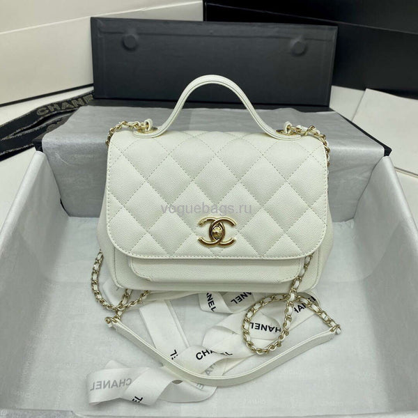 Chanel A93749 Flap Shoulder bag Grained Calfskin white