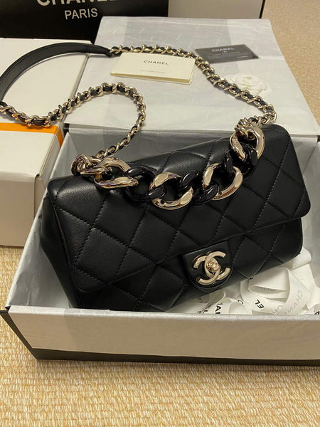 Chanel AS1353 Chanel  Flap Cruise Lambskin Bag Black