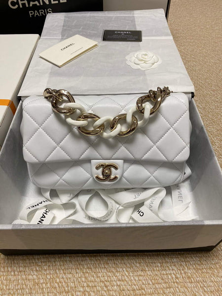 Chanel AS1353 Chanel  Flap Cruise Lambskin Bag White