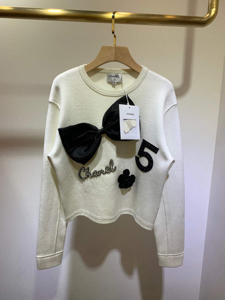 Chanel Sweaters Designer Chanel Sweatshirts Clothing Women 38066 White