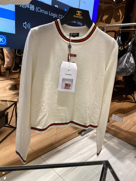 Chanel Women's Sweaters Designer Chanel Sweatshirts Clothing 38083 White