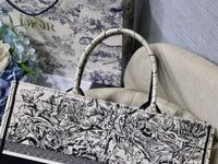 Dior M1286 Book Tote Latte Multicolor Dior Zodiac Embroidery Gray