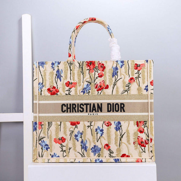 Dior M1296 Book Tote Christian Dior Beige Multicolor