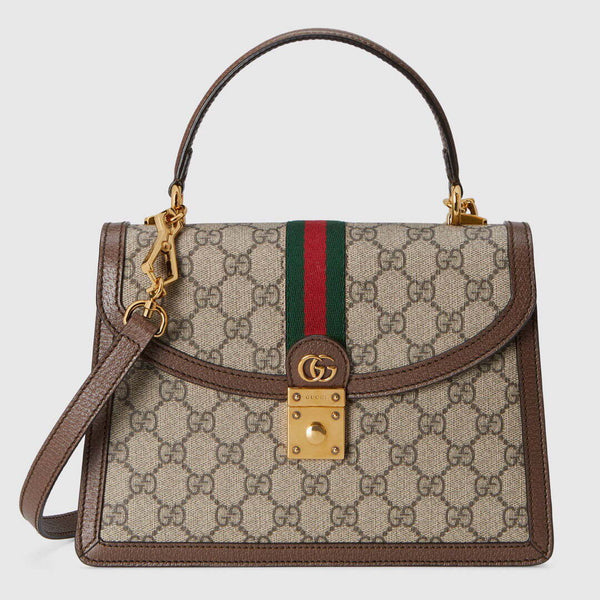 Gucci 524405 GG Ophidia  Small top Handle bag with Web