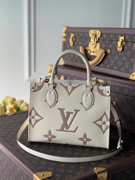 LV M45654 Louis Vuitton Exclusive Prelaunch Onthego Pm Monogram Empreinte Cream