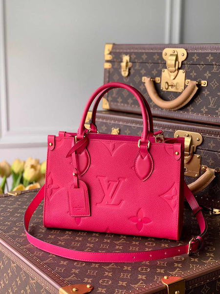 LV M45660 Louis Vuitton  Exclusive Prelaunch Onthego Pm Monogram Empreinte Plum