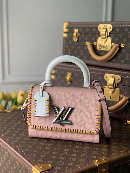 LV M50283 Louis Vuitton Twist MM Bag Pink