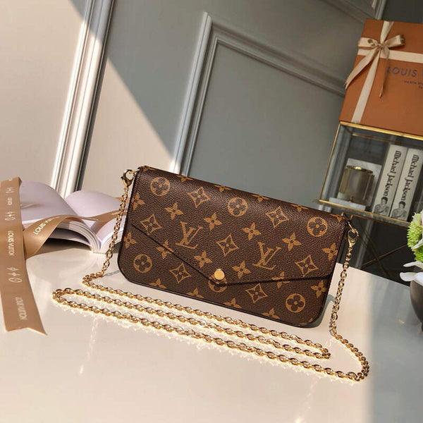 LV M61276 Louis Vuitton Felicie Pochette Bag Monogram