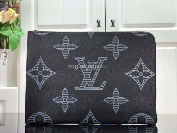 LV M80044 Louis Vuitton Pochette Jour Taurillon Monogram Black