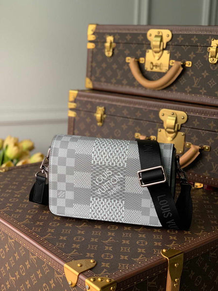 LV N50013 Louis Vuitton Studio Messenger Damier Graphite N50026 Gray