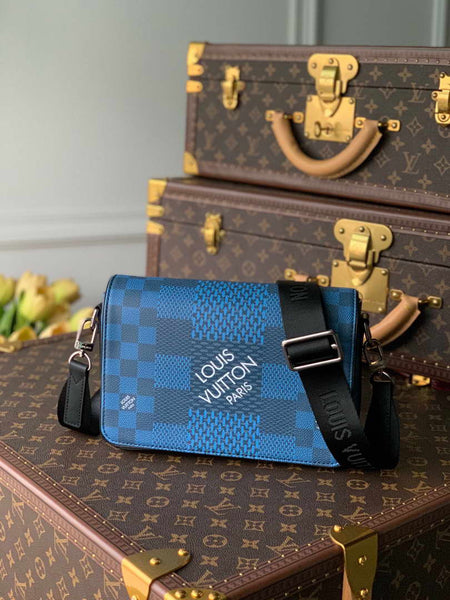 LV N50026 Louis Vuitton Studio Messenger Damier Graphite N50013 Navy Blue