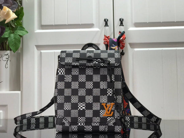 LV N60453 Louis Vuitton ZOOM should bag black and white
