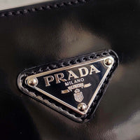 Prada 1BA321 Brushed Leather Handbag Black