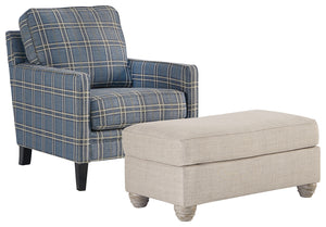 Load image into Gallery viewer, Traemore Benchcraft 2-Piece Chair & Ottoman Set