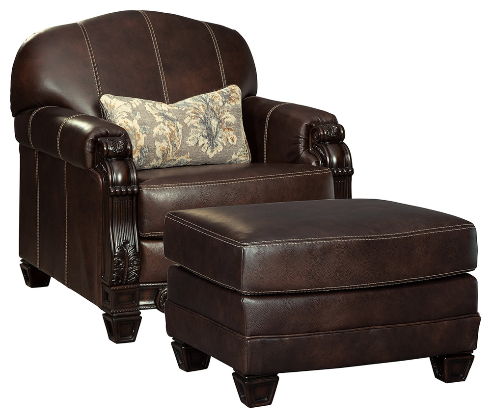 Load image into Gallery viewer, Embrook Signature Design 2-Piece Chair & Ottoman Set