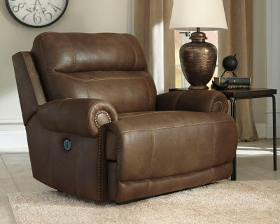 Austere Signature Design by Ashley Zero Wall Power Wide Recliner