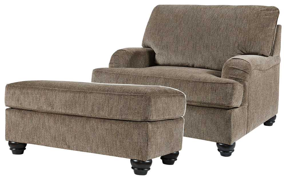 Load image into Gallery viewer, Braemar Benchcraft 2-Piece Chair & Ottoman Set