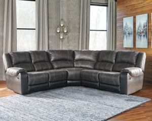 Nantahala Signature Design by Ashley 5-Piece Reclining Sectional