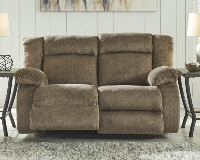 Burkner Signature Design by Ashley Reclining Power Loveseat