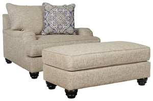Load image into Gallery viewer, Reardon Signature Design 2-Piece Chair & Ottoman Set