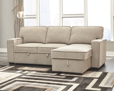 Darton Signature Design by Ashley 2-Piece Sleeper Sectional with Storage