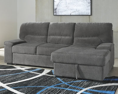 Yantis Signature Design by Ashley 2-Piece Sleeper Sectional with Storage