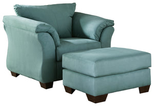 Load image into Gallery viewer, Darcy Signature Design 2-Piece Chair & Ottoman Set