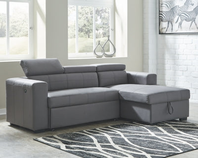 Salado Signature Design by Ashley 2-Piece Sleeper Sectional with Storage