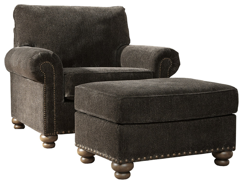 Stracelen Signature Design 2-Piece Chair & Ottoman Set