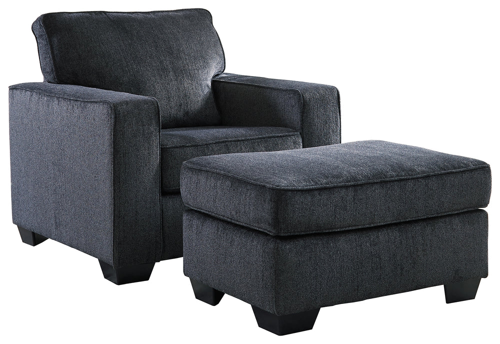 Altari Signature Design 2-Piece Chair & Ottoman Set