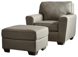 Calicho Benchcraft 2-Piece Chair & Ottoman Set