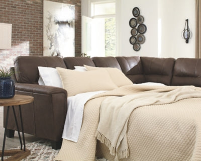 Navi Signature Design by Ashley 2-Piece Sleeper Sectional with Chaise