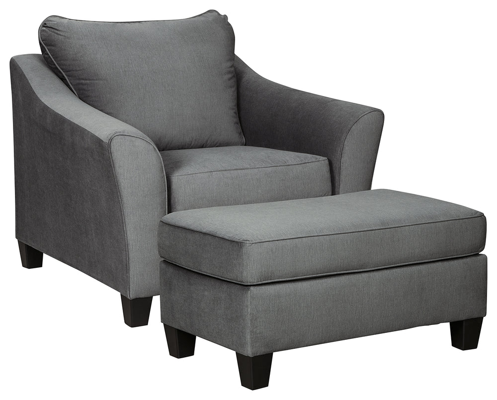 Sanzero Signature Design 2-Piece Chair & Ottoman Set