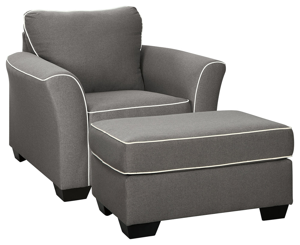 Domani Signature Design 2-Piece Chair & Ottoman Set