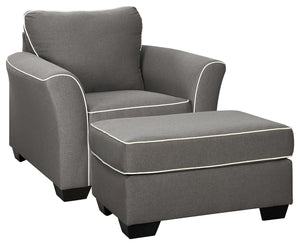 Load image into Gallery viewer, Domani Signature Design 2-Piece Chair & Ottoman Set