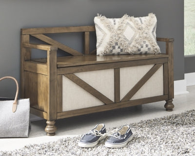 Brickwell Signature Design by Ashley Storage Bench