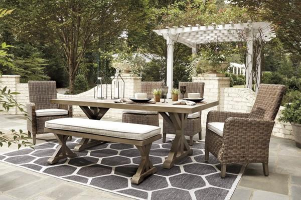 Beachcroft Signature Design 6-Piece Outdoor Dining Set