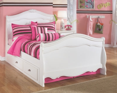Exquisite Signature Design by Ashley Bed with 4 Storage Drawers