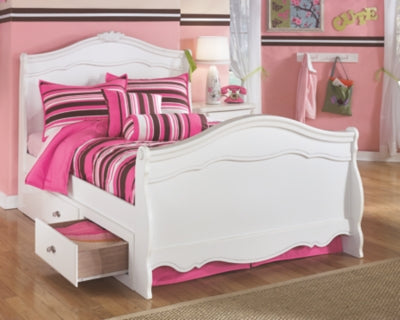 Exquisite Signature Design by Ashley Bed with 2 Storage Drawers