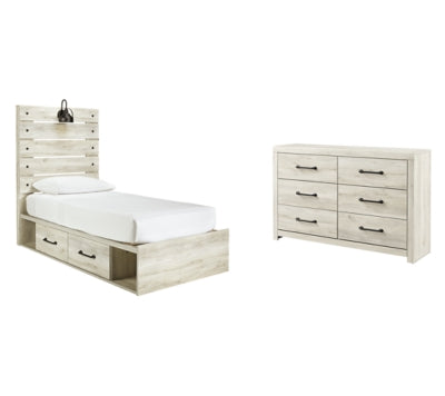 Cambeck Signature Design Youth Bedroom 4-Piece Bedroom Set with 4 Storage Drawers
