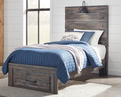 Drystan Signature Design by Ashley Bed with Storage Drawer