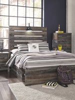 Drystan Signature Design by Ashley Bed with 2 Storage Drawers