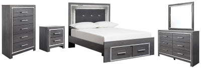 Lodanna Signature Design 7-Piece Bedroom Set with 2 Storage Drawers